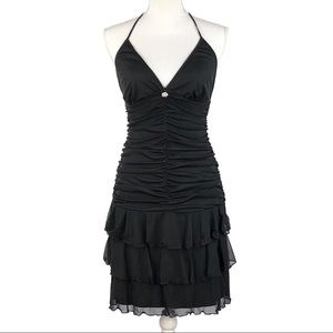 JODI KRISTOPHER | Black Halter Tango Dress